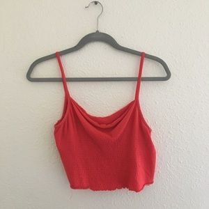 Red Orange Crop Top